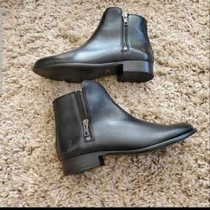 Frye Shoes - Frye Carly Double Zip Black Leather Booties